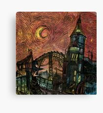 Lady Caresses the Night Canvas Print