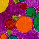 COLORFUL CHILDREN ART CIRCLES AND BUBBLES by Nicola Furlong