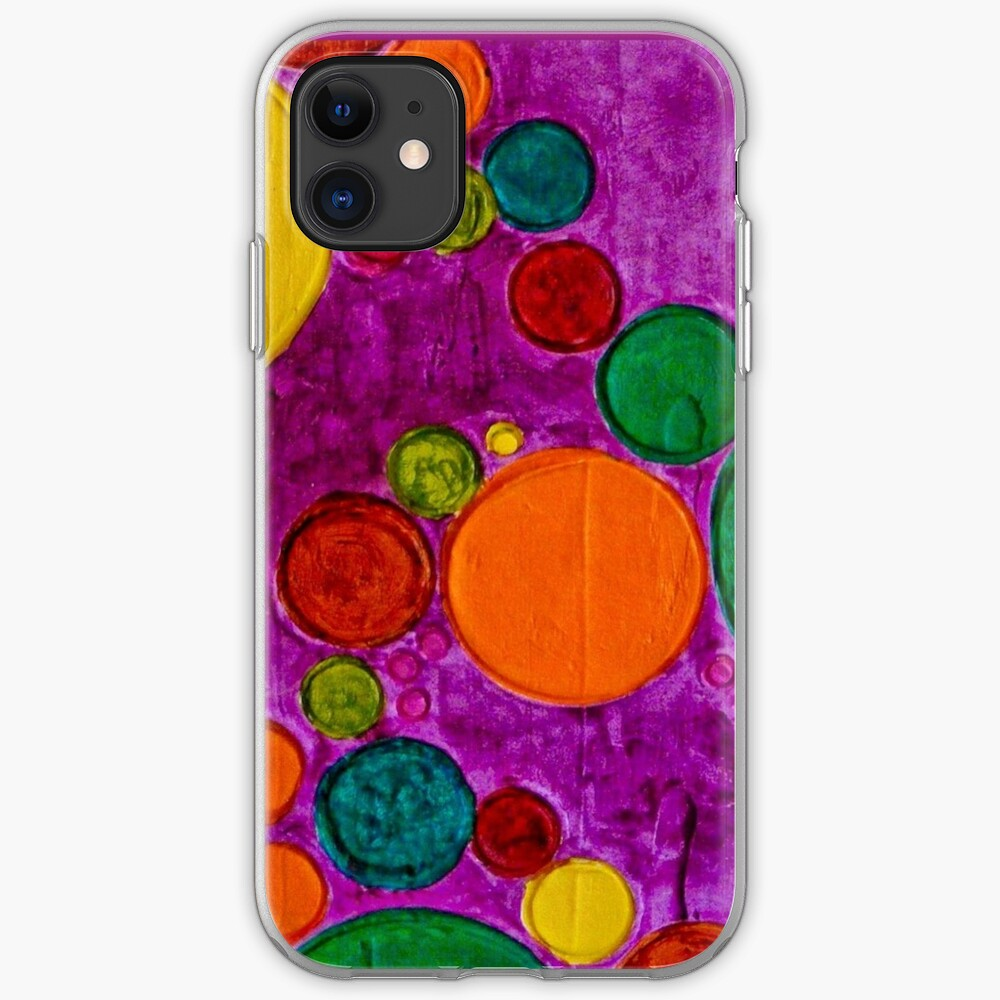 COLORFUL CHILDREN ART CIRCLES AND BUBBLES iPhone Case & Cover