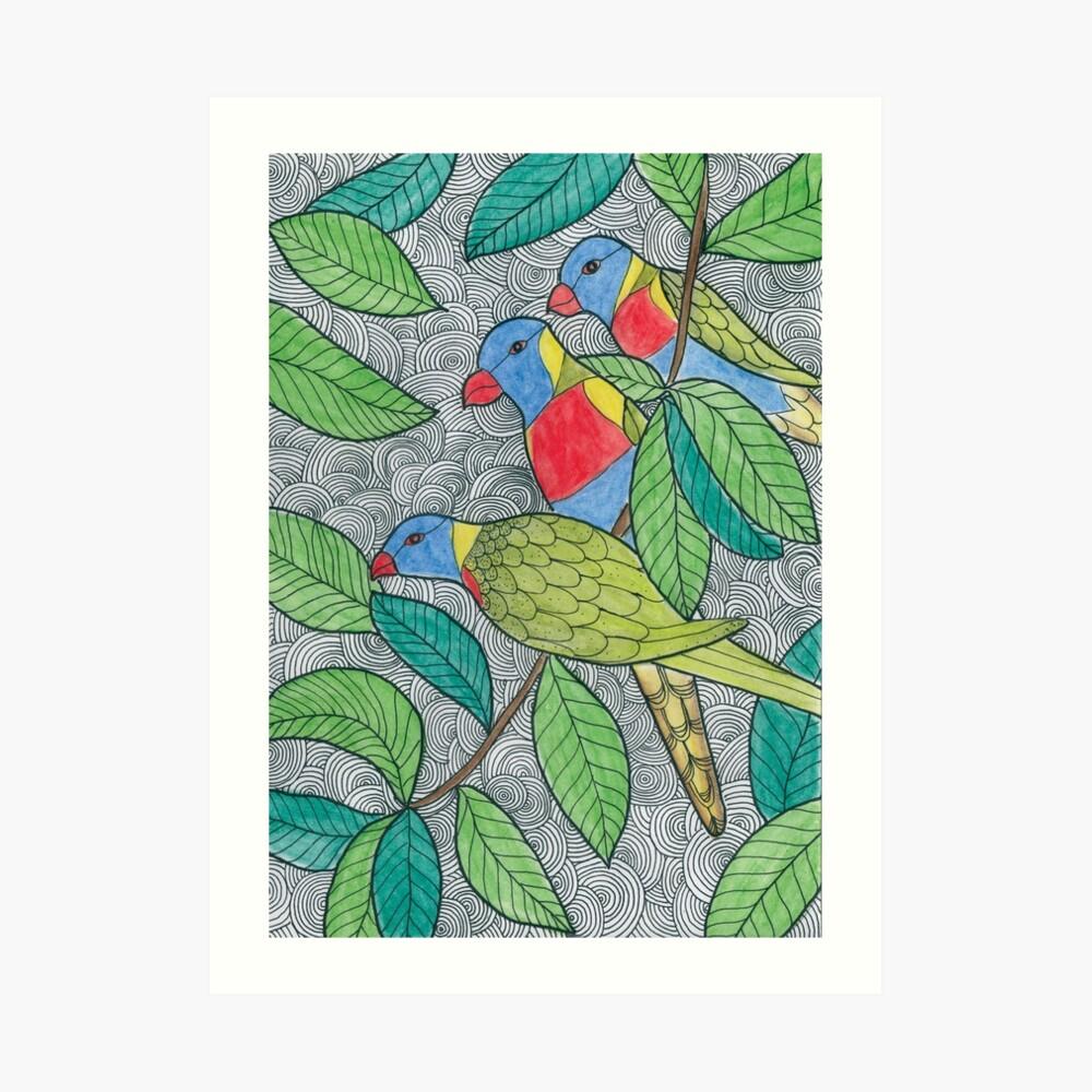 Rainbow Lorikets Art Print