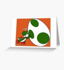 Yoshi's Huge Egg Greeting Card
