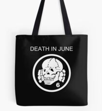 Death In June Skull Punk Rock Tote Bag