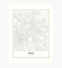Berlin Minimalist Map Art Print