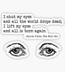 bell jar eyes Sticker