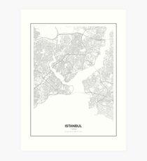 Istanbul Minimalist Map Art Print