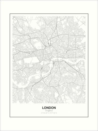 London minimalistische Karte von resfeber
