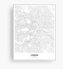 London Minimalist Map Metal Print