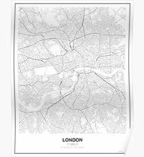 London minimalistische Karte Poster