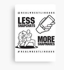 Less Snapchats, More Snapmares Canvas Print