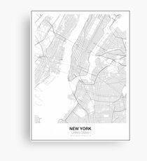 New York Minimalist Map Canvas Print