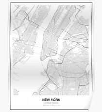 New York Minimalist Map Poster