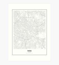 Paris minimalistische Karte Kunstdruck