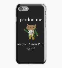 Alexander Hamilcat (White Text) iPhone Case/Skin