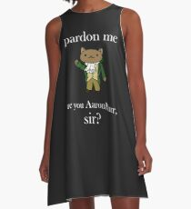Alexander Hamilcat (White Text) A-Line Dress