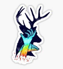 Thee Deer Shadow Sticker