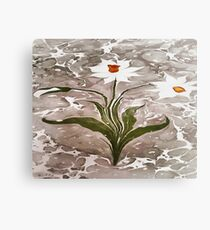 Narcissus On Marble Canvas Print