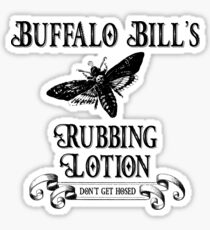 Buffalo Bill's Rubbing Lotion Sticker