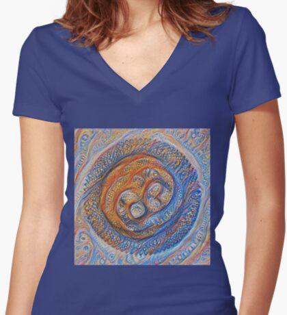 Orbits #DeepDream Fitted V-Neck T-Shirt