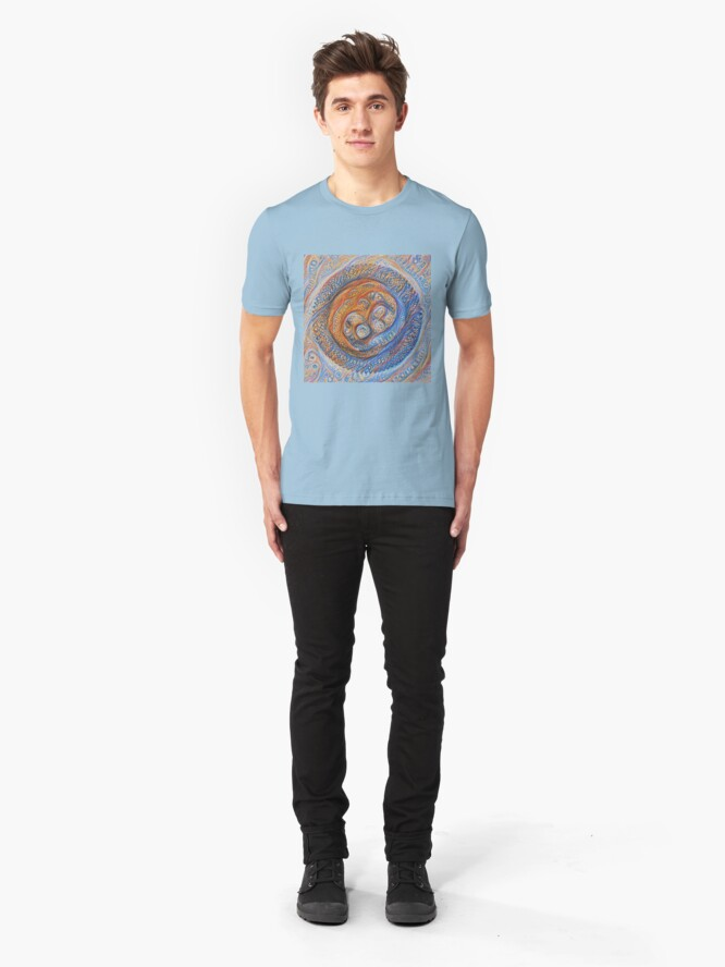 Alternate view of Orbits #DeepDream Slim Fit T-Shirt