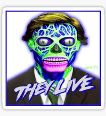 THEY LIVE - Blue & Green Sticker