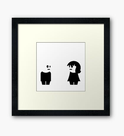 Goth Couple VRS2 Framed Print