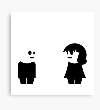 Goth Couple VRS2 Canvas Print