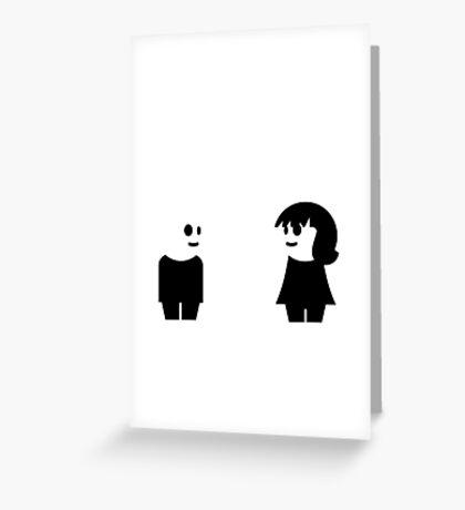Goth Couple VRS2 Greeting Card