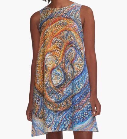 Orbits #DeepDream A-Line Dress