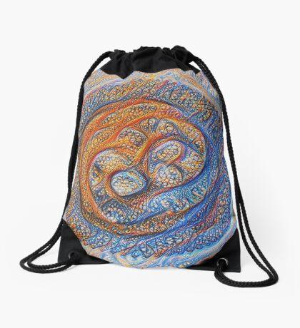 Orbits #DeepDream Drawstring Bag