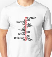 Mass Effect Two Characters Unisex T-Shirt