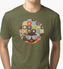 Robots on buttons Tri-blend T-Shirt