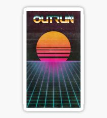 OUTRUN Poster Sticker