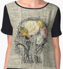 Brain Full Of Flowers Dictionary Art Women's Chiffon Top