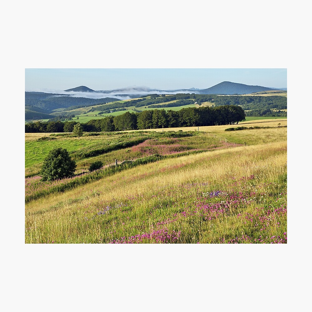 Morning landscape in Ardeche Photographic Print