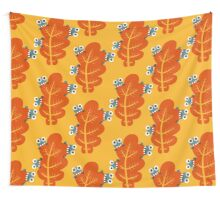 Cute Bugs Eating Autumn Leaves Wall Tapestry