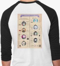 Theatre Styles Infographic Poster Men's Baseball ¾ T-Shirt