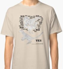 Just say NO to unfeathered non-avialan maniraptoran theropod dinosaurs Classic T-Shirt