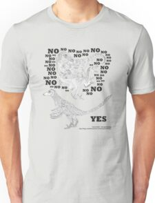 Just say NO to unfeathered non-avialan maniraptoran theropod dinosaurs Unisex T-Shirt