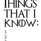 Things That I Know by oneksy