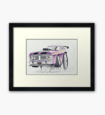 XY GT Burn out by Glens Graphix Framed Print