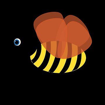 Bent Bee Sticker by chunkymonkey