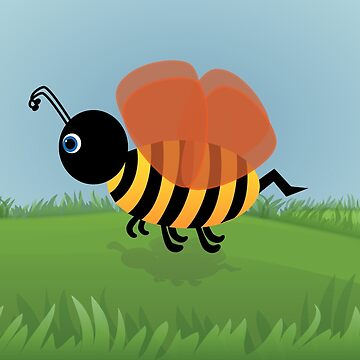 Bent Bee Poster by chunkymonkey
