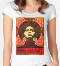 Angela Davis poster 1971 Women's Fitted Scoop T-Shirt