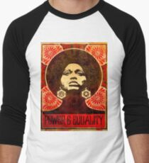 Angela Davis poster 1971 Men's Baseball ¾ T-Shirt