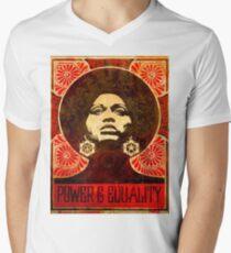 Angela Davis Plakat 1971 T-Shirt mit V-Ausschnitt
