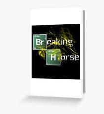Breaking Horse Greeting Card