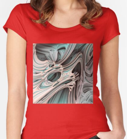 Cosmic creature #Fractal Fitted Scoop T-Shirt