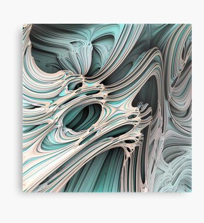 Cosmic creature #Fractal Metal Print