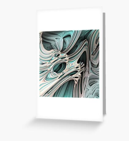 Cosmic creature #Fractal Greeting Card