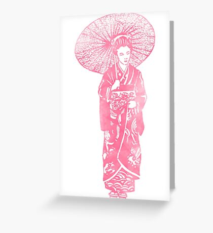 geisha 01-4 Greeting Card